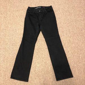 INC Boot Leg Curvy Fit Black jeans 4S